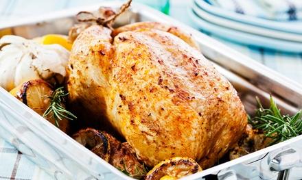 Menu en 3 services poulet embroché chez t Kempens Kiekekot à Zandhoven
