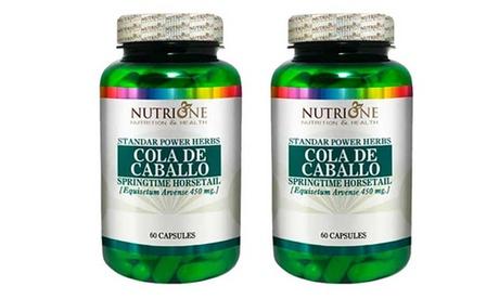 Complemento alimenticio diurético de Cola de Caballo para 1 mes o 2 meses