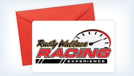 eCard for a Short Track Ride-Along or Driving Experience at Rusty Wallace Racing Experience (Half Off)