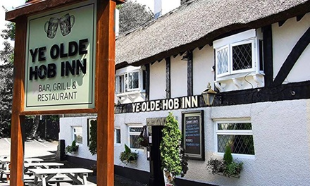 Two-Course Meal with Wine for Two or Four at Ye Olde Hob Inn Restaurant Bar and Grill (Up to 39% Off)