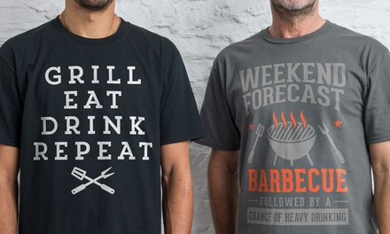 Shot Dead in the Head Men's Barbecue TShirts
