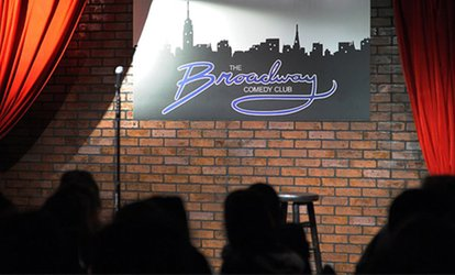 Standup Comedy for Two with Two Drinks and Two Tickets to a Future Show at Broadway Comedy Club (Through September 30)