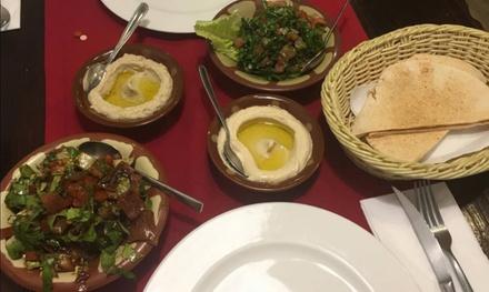 Menú degustación para 2 personas con 6 platos, postre y bebida en Mesón Libanés (hasta 40% de descuento)