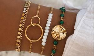 Lot de 4 bracelets CLARA