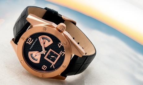 Reloj Morphic M42 para hombre con correa de cuero genuino disponible en 4 colores