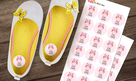 Personalised Kids' Shoe Dot Labels: 18 $6, 36 $10, 54 $14 or 72 $18 Don't Pay up to $79.96