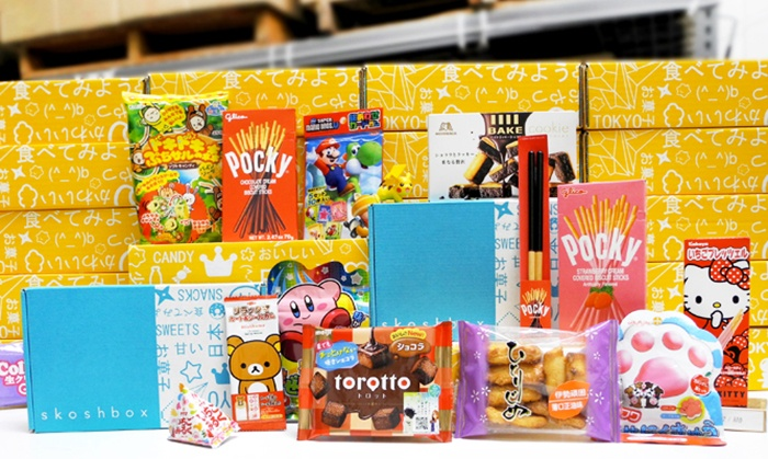 Skoshbox: Monthly Subscription for a Surprise Box of Japanese Candy (2 Sizes Available) from Skoshbox (Up to 50% Off)
