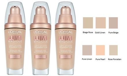 $19.95 for ThreePack of L'Oreal Lumi Magique Light Infusing Foundation Don't Pay $52.23