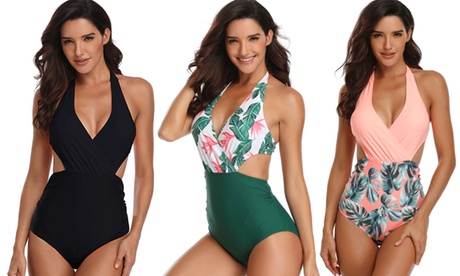 Bañador de mujer con cierre de bikini por detrás