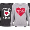 Women's Plus Size Valentine's Slouchy Pullover