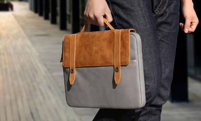 MARGOUN GENERAL TRADING: Shock-Resistant PU-Leather Laptop Bag