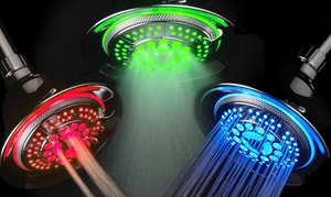 DreamSpa Color-Changing Chrome-Face 5-Setting LED Showerhead