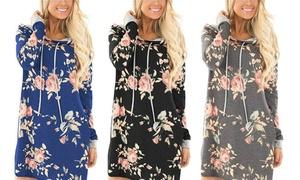Robe à capuche imprimé floral