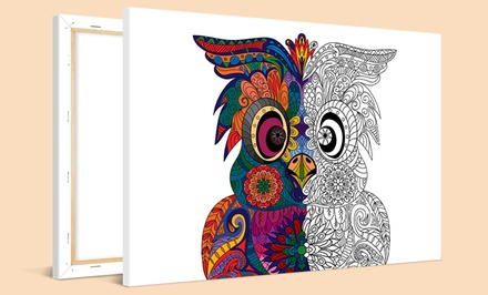 Lienzo para colorear a elegir entre 3 tamaños y 21 diseños distintos con Photo Gift (hasta 81% de descuento)