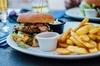 Menu hamburger d'asporto o consumazione in loco
