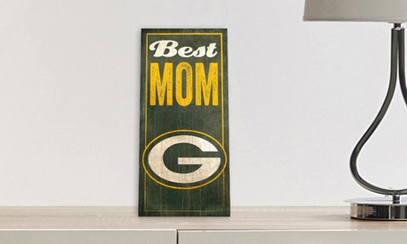 NFL 12'' x 6'' Best Mom Sign