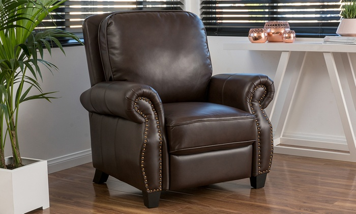 Andre Brown PU Leather Recliner Club Chair – Leather Recliner Club Chairs