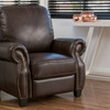 Andre Brown PU Leather Recliner Club Chair