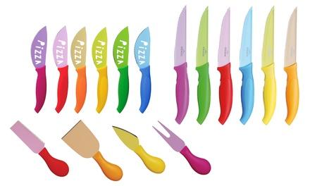 Set da 4 e 6 coltelli colorati Excelsa disponibili in 3 modelli