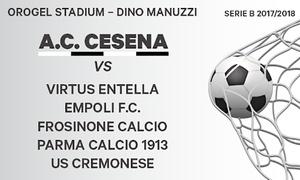 Serie B - AC Cesena: Calcio, Serie B - Partite dell'AC Cesena della stagione 2017-2018 allo stadio Dino Manuzzi - Orogel Stadium