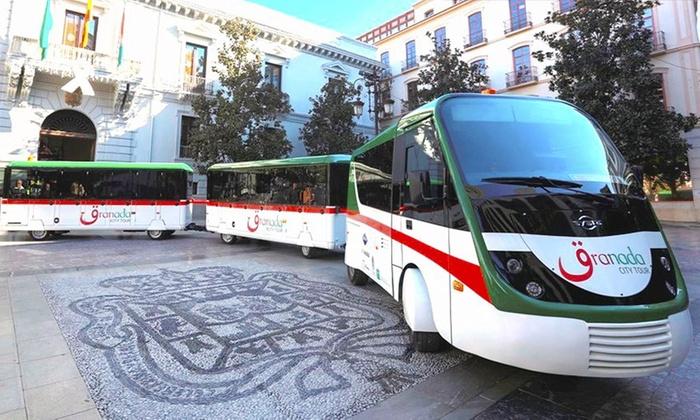 granada city tour - Granada city tour: Granada: 1 billete para tren turístico para recorrer y conocer la historia de la Alhambra, el Albayzín y de Plaza Nueva