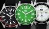 Wohler Men's Watch with Bezel Inserts: Wohler Men's Watch with Bezel Inserts