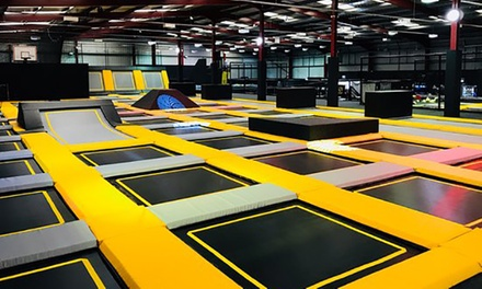 One-Hour Trampoline Park Access for Up to Four at Go Air Trampoline Park (Up to 51% Off)