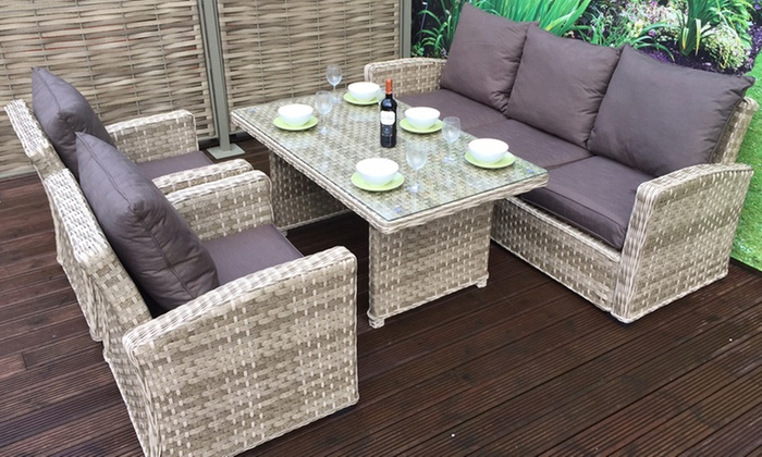 gabrielle rattan effect dining set