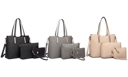 Set di 3 borse Miss Lulu disponibili in 5 colori