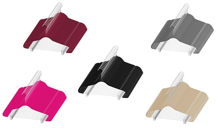 Space-Saving Velvet Pants Hangers with Metal Clips (20-Pack)