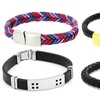 Men's Bracelets with Stainless Steel Accents