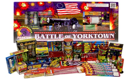 groupon.com - One Battle of Yorktown Assortment or One 500-Gram Repeater from Phantom Fireworks (Up to 61% Off)