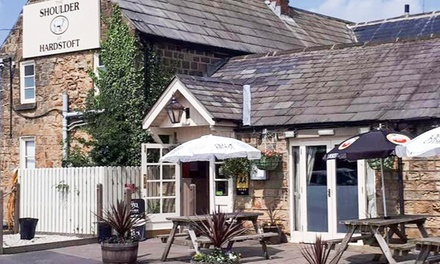 Two-Course British Meal with Wine for Two or Four at The Shoulder at Hardstoft (Up to 59% Off)