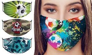 Masque imprimé football