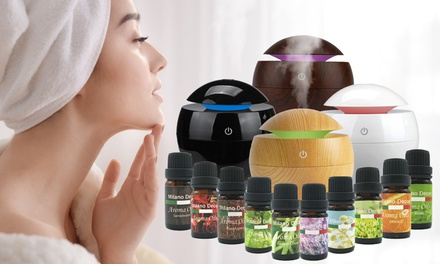 $25 for a Milano USB Essential Oil Diffuser with 10Pack of Essential Oils Don't Pay $79