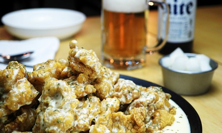 Korean Fried Chicken Feast with Beer $29 or 4 Ppl $49 @ ₩10,000 Korean Fried Chicken Bar & Cafe Up to $92.80