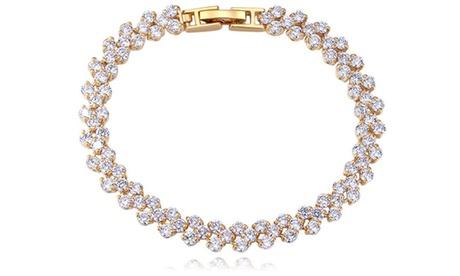 Groupon DE Damen-Armband mit Kristallen in Gold