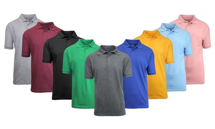 Men's Pique Polo Shirt (3-Pack)