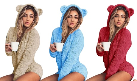 Pijama de lana de osito para mujer