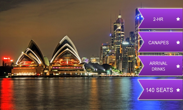 Coast Harbour Cruises - Coast Harbour Cruises: From $39 for a Two-Hour Vivid Festival Cruise Including Soft or Sparkling Drink and Canapes with Coast Harbour Cruises