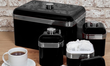Swan Bread Bin with Canisters