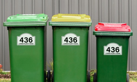 6Pack of Wheelie Bin Stickers: One $4.95, Two $8.95 or Three $12.95 Don't Pay up to $74.85