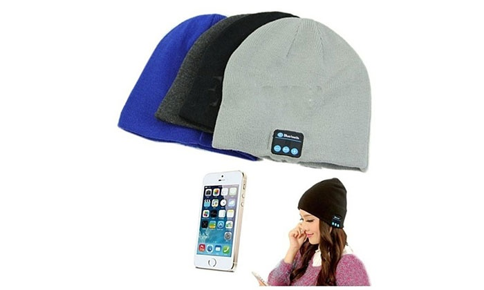 01be14d766c Wireless Bluetooth Beanie Hat with Built-In Headphones