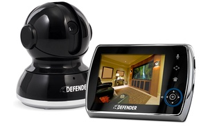 defender phoenix 3 5 baby video monitor with ptz camera groupon. Black Bedroom Furniture Sets. Home Design Ideas