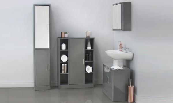 Up To 10 Off Bathroom Furniture Pieces, Mirrored Bathroom Floor Cabinet