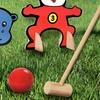 10-Piece Wooden Jungle Animal Croquet Game Set
