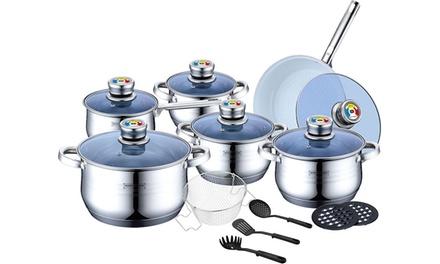 Batteria da cucina 18 pezzi inox groupon goods - Batteria da cucina lagostina prezzi ...