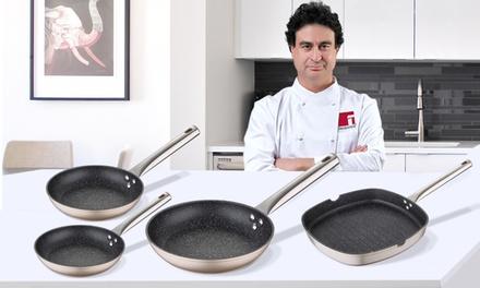 Set de 3 sartenes y grill profesionales San Ignacio Neon Gold