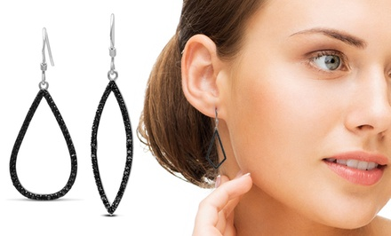 1/2-Carat Black Diamond Dangle Earrings