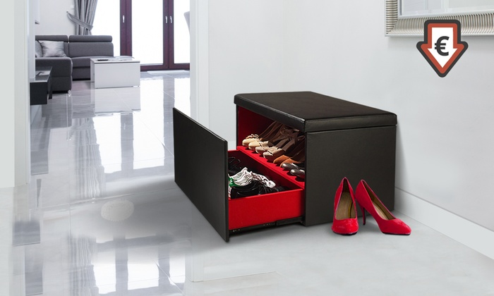 coffre de rangement de chaussures groupon shopping. Black Bedroom Furniture Sets. Home Design Ideas